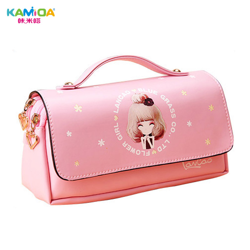 Multifunctional Real Student Bag Accessories Set Large Capacity Faux Leather Crayon Girls Bags School Supplies Cute Gift Package