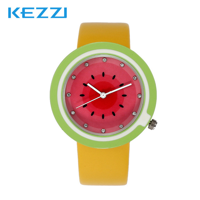 Valentine's day gifts Fruit ninja sweet fruit series lovely watch High quality leather han edition student table
