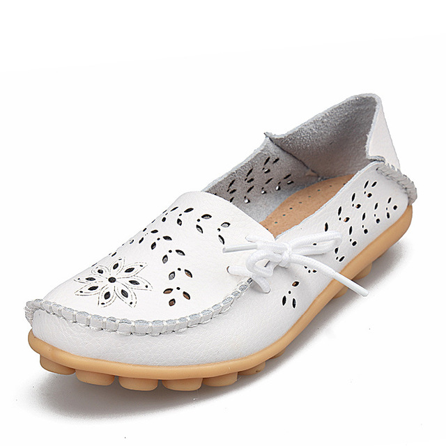 2017 Women Flats Leather Shoes Moccasins Mother Loafers Soft Leisure Female Flats Driving Women shoes Casual Footwear DTT679