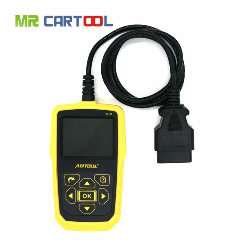 imágenes para AUTOOL OL129 Monitor de Batería Y OBD/EOBD Lector de Código Auto Herramienta de Diagnóstico Del Motor, Reparación de Automóviles, Mejor Que Autel AL519