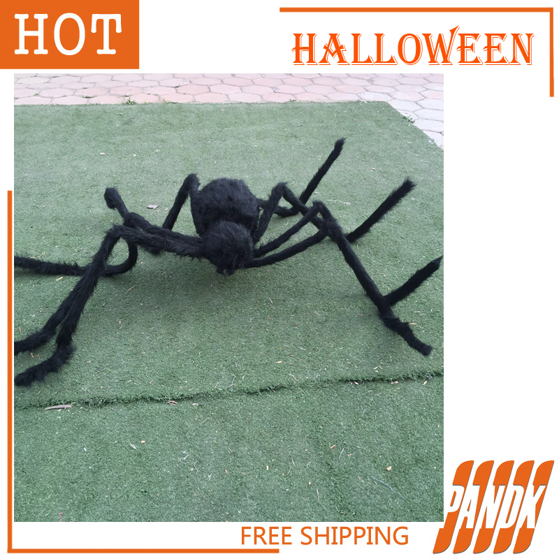 poseable furry spider light giant spider halloween decorations holiday halloween props haunted house ideas party yard in event party from home garden on