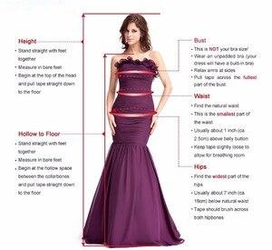 Image 5 - Champagne Lace Mermaid Wedding Dresses 2020 robe de mariee Detachable Train Sheer Illusion Wedding Gowns Handmade Gelinlik Bride