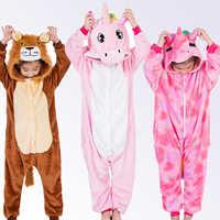 Unicorn Pajamas for Boys Girls Winter Onesie Kids Animal Pajamas Children Kigurumi Cosplay Pyjamas Winter Sleepwear for 4-12 Y