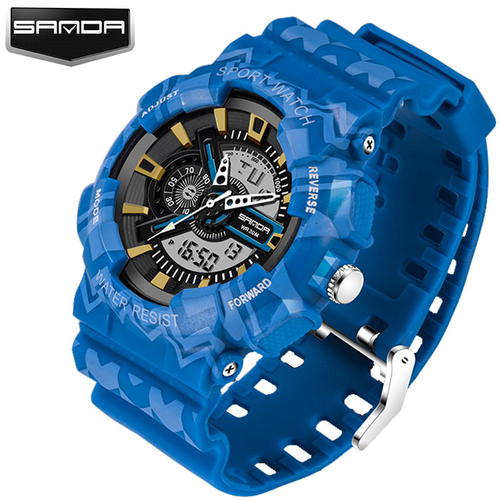 SANDA Electronic Military Sport Watch Men Top Brand Luxury Famous Male Clock LED Digital Wrist Watches For Men Relogio Masculino 2017 new colorful boys girls students time electronic digital wrist sport watch drop shipping 0307