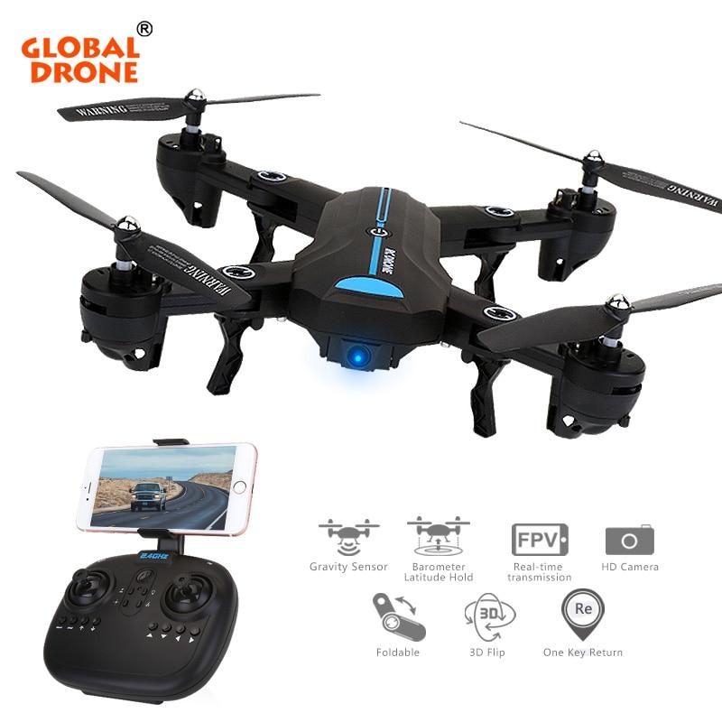 Globale Drone A6W WIFI FFV Selfie Drohne Faltbare Quadcopter mit Weitwinkel HD Kamera RC Quadrocopter VS VISUO XS809HW E58 JY018