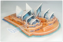 Clearance Educational toy Sydney Opera House 3d jigsaw puzzle assembly model paper famous building game creative children gift 1 pc