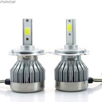 Pair C1 COB 30W Car Led H3 Headlight Auto Foglight Foglamp Kit Bulbs Conversion Replacement 12V