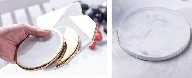 HTB1n B6gsIrBKNjSZK9q6ygoVXas.jpg 640x640 - tabletop-and-bar, drinkware - Gold Marble Ceramic Coaster