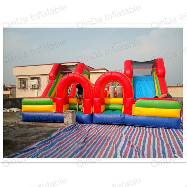 Amusement Park Toys EN14960 Commercial Giant Inflatable Fun City Big  Inflatable Obstacle Games