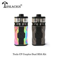 Электронные сигареты оригинальный Teslacigs Тесла CP пары 220 комплект Max 110 Вт двойной RDA танк распылитель комплект для электронной сигареты Двойн