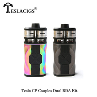 Электронные сигареты оригинал Teslacigs Тесла CP пары 110 комплект Макс 220 Вт двойной RDA танк распылителя Vape комплект по двойной 18650 Батарея