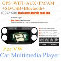 Car Multimedia For VW Tiguan 2013 2014 2015 For Android 4.4 10.2 Quad Core Auto Stereo Radio Player Support 3G 2G RAM 16G ROM
