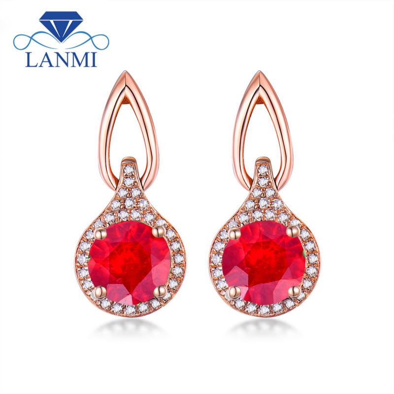 Aliexpress.com : Buy Elegant Ruby Wedding Earring Design