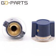 GD PARTS bleu foncé ABS ensemble plastique pointeur boutons pour guitare Vintage ampli effet pédale Radio Stomp Box Marconi Neve Style 10 pièces