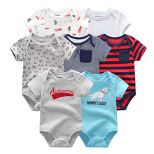 Fetchmous 7 PCS/lot uniesx bodysuits short sleeve onesie