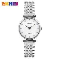 SKMEI Women Quartz Watches Fashion Casual Dress Girls Wristwatches Shell Face Rose Gold Silver Ladies Watch