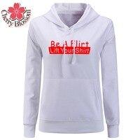 Cherry Blossom Harajuku Style Casual Women Hood Sweatshirt Letter Printed Hooded Hoodies Plus Size Female Sportswear Tracksuits