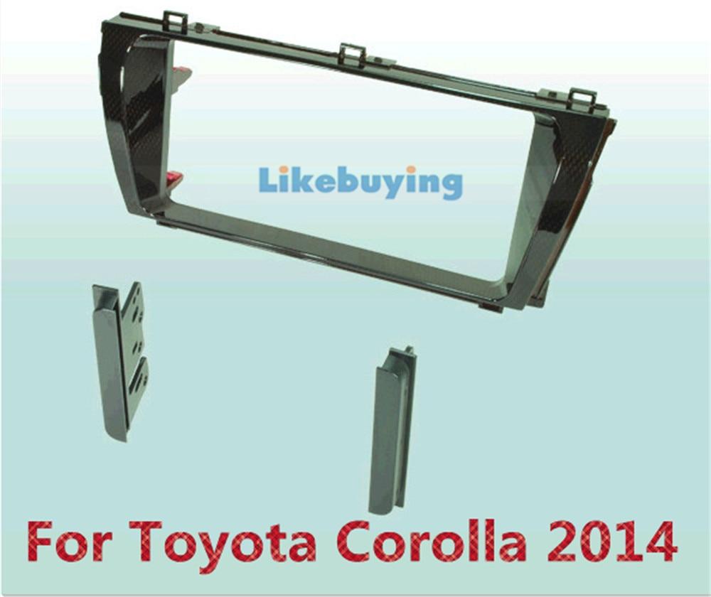 2 Din Car Frame Dash Kit /Car Fascias / Mount Bracket Panel For Toyota Corolla 2014 2 din car refitting frame panel for jaguar s