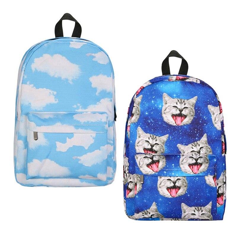 Hot Sale Lemon Kitten Cute Emoji Cat Women Backpack Cartoon Printed Students Girl Shoulder Bag Backpack Adolescent Girl
