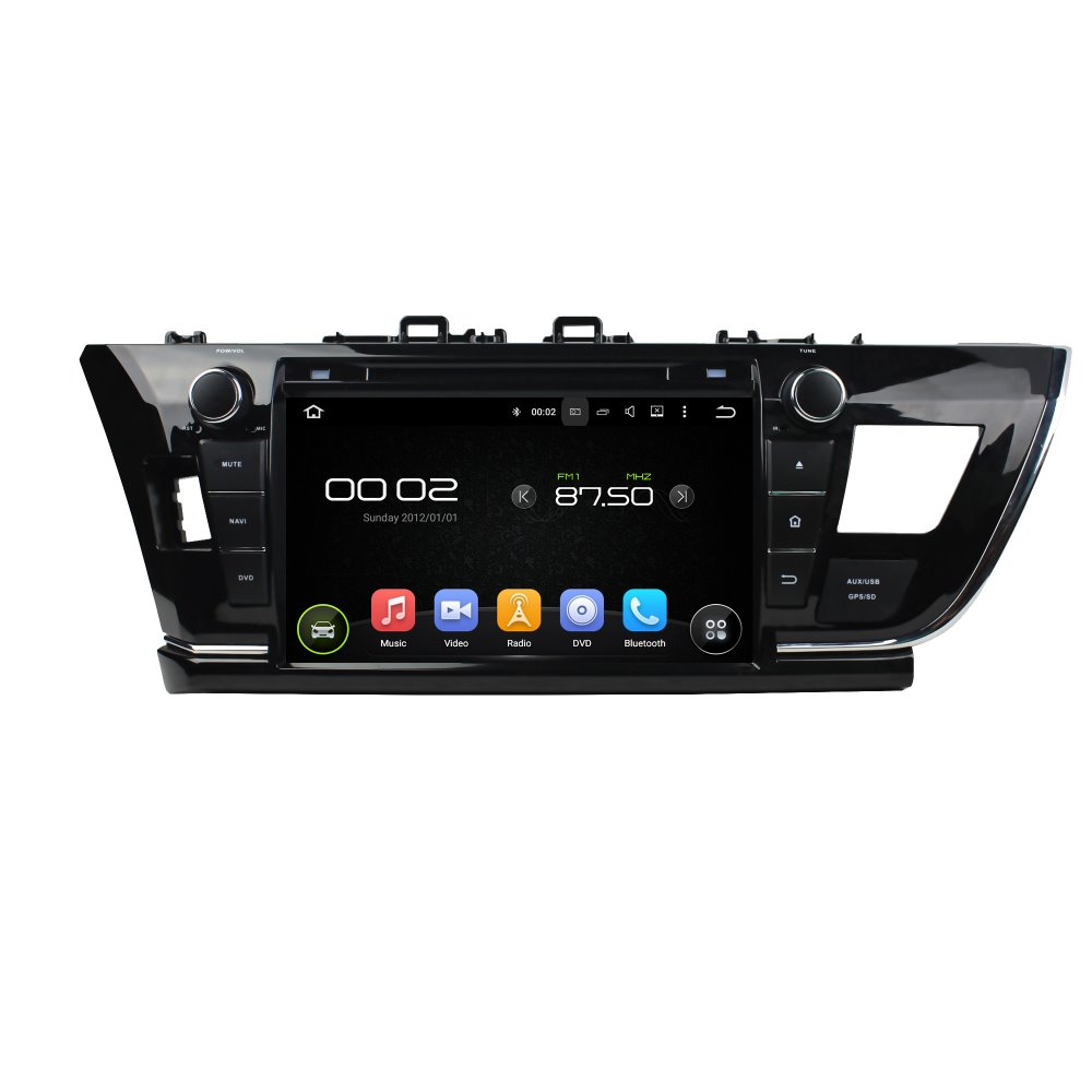 otojeta car dvd player for toyota COROLLA 2014 9 octa core android 6.0 2GB RAM 32GB ROM stereo BT/radio/dvr/obd2/tpms/camera