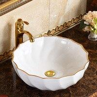 Bathroom Above Counter Basin Round Art Basin Modern Simple Household Bowl Ceramic Washbasin Washbasin LO622149