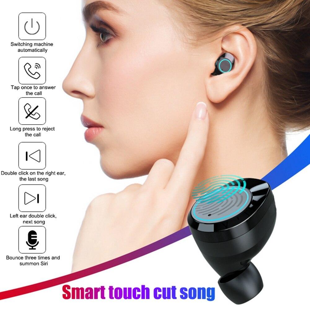 V5.0 casque audio sans fil écouteurs bluetooth 3000 mAh Grande Batterie Smart Respiration Lumière Mains Libres casque stéréo Avec Microphone - 3
