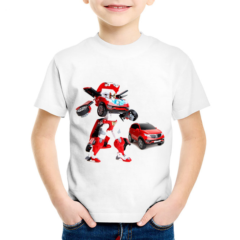 Fashion Print Tobot Children Funny T-shirts Kids Car Toy Summer Short Sleeve Tees Boys/Girls Casual Tops Baby Clothes,HKP2179 children dabbing unicorn cartoon funny t shirts kids summer tops tees girls boys short sleeve t shirt rabbit cat baby clothes