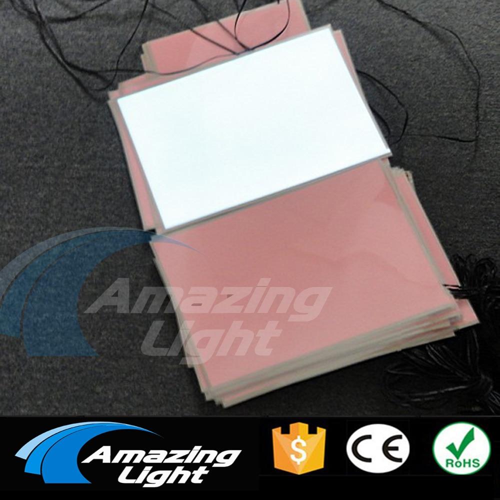 100 pz/lotto Bianco In bianco di colore A4 (210*297mm) elettroluminescente foglio di retroilluminazione LCD pannello di el pannello con DC12V inverter