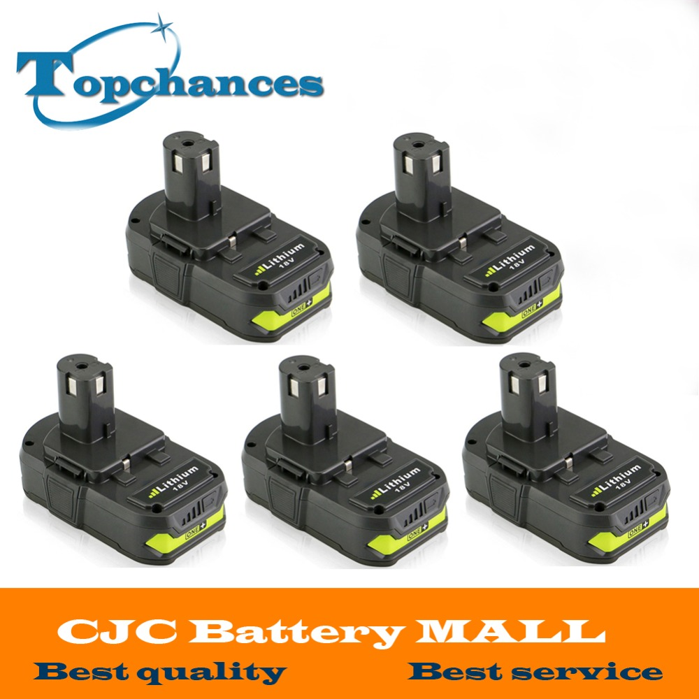 5X New 18V 2500mAh Li Ion Rechargeable Battery For Ryobi RB18L25 One Plus for font b