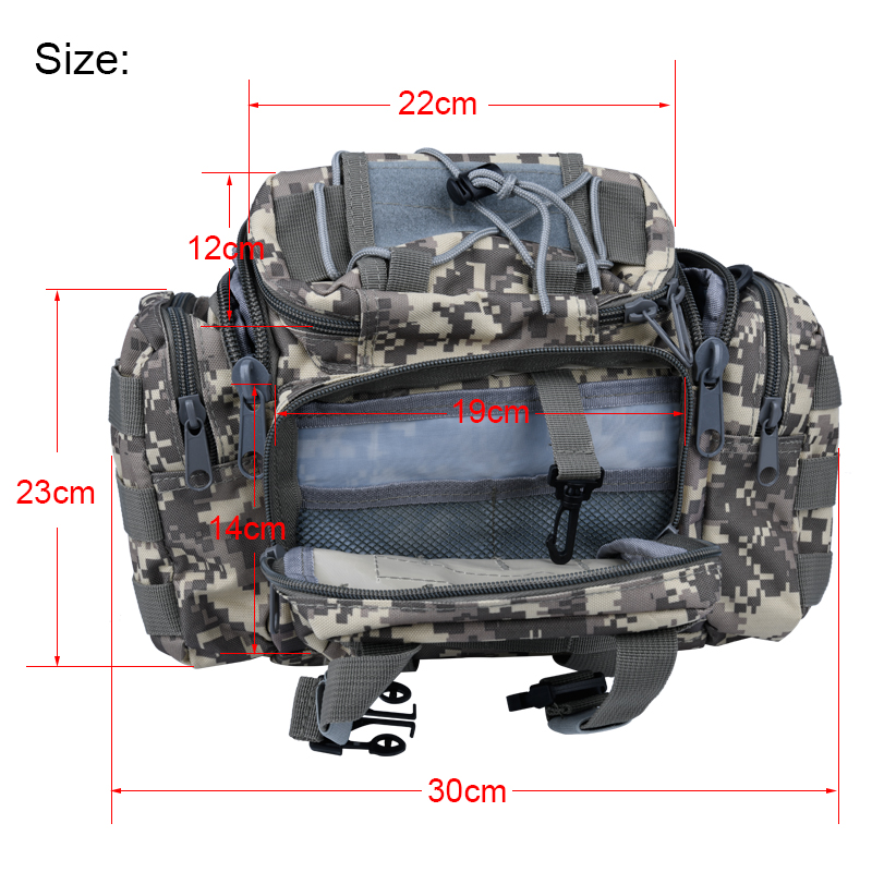 741b406888 Outdoor Lure Fishing bag 900D Oxford fishing tackle bag multifunctional  Camouflage waist pack messenger bag fishing tackle -in Fishing Bags from  Sports ...