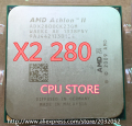 AMD Athlon II X2 280 CPU Processor (3.6GHz/2MB L2 Cache /Socket AM3) Dual-Core (working 100% Free Shipping)