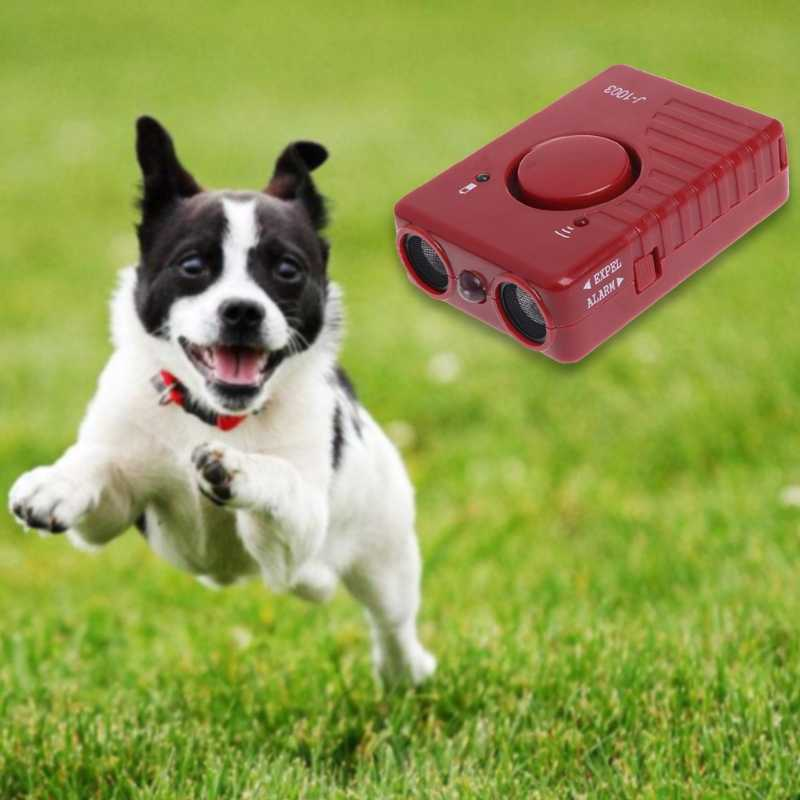 Dispositivo de Treinamento Pet Ultrasonic Dog Repeller Com DIODO EMISSOR de Luz Para O Cão Agressivo Anti Latido Parar de Latir