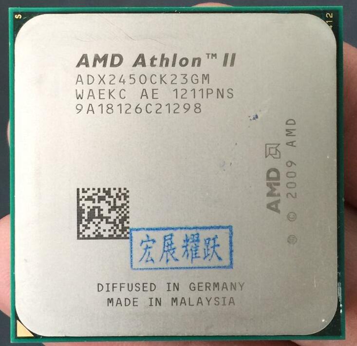 AMD Athlon II X2 245  X245 Dual-Core Desktop CPU AM3 938 CPU 100% Working Properly Desktop Processor