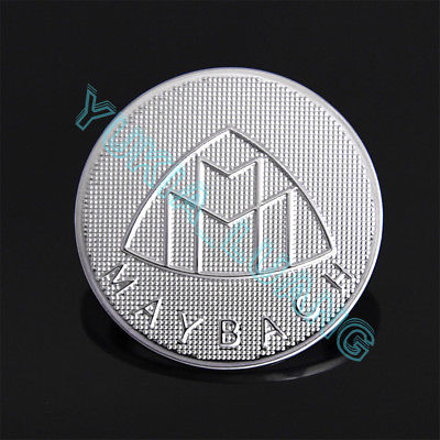 on sale maybach logo front hood ornament emblem silver badge oem for