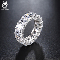 ORSA JEWELS One Row 0 7mm 17 Pieces Shine AAA Austrian Cubic Zirconia Rings 2017 Fashion