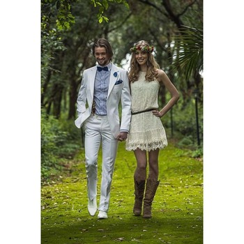 2017 Summer single Breasted Closure Lapel Handsome Slim men suit Tuxedos Custom White Mens Wedding Suits(Jacket+Pants+Tie)
