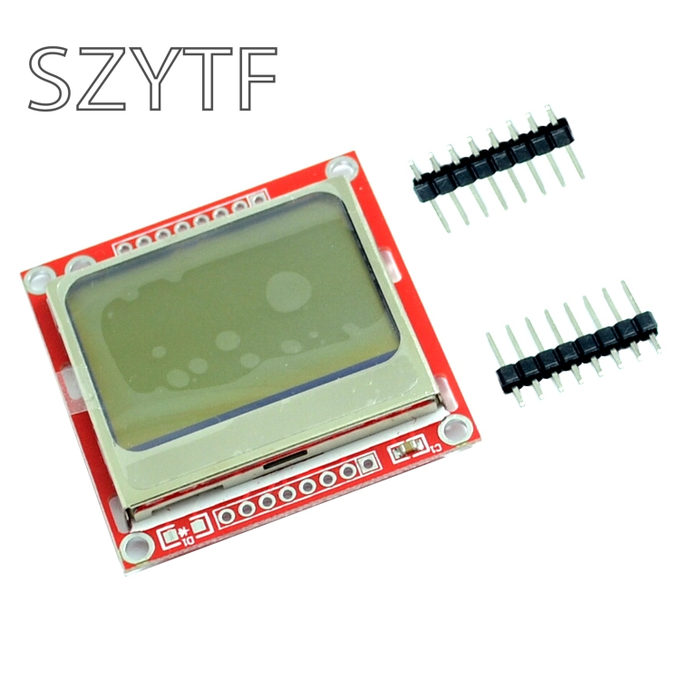SZYTF 84x48 84x84 LCD Module Red Backlight Adapter PCB