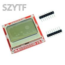 عالية الجودة 84x48 84x84 وحدة LCD الأحمر الخلفية محول ثنائي الفينيل متعدد الكلور لنوكيا 5110