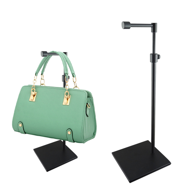 BLACK IRON Handbag Display Stand purse wig bag holder rack Adjustable Height e2a33f7af9209