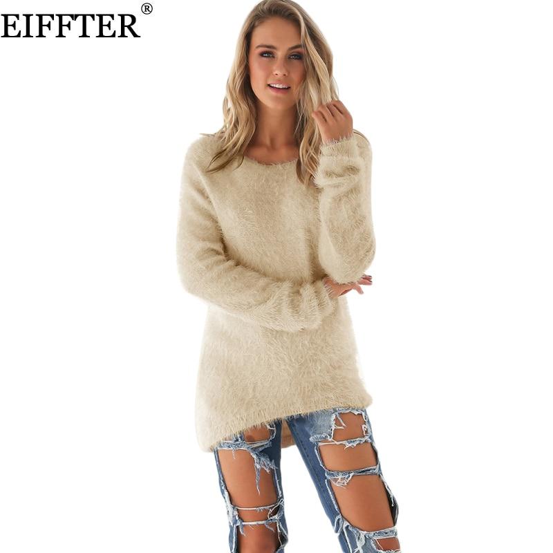 Pullover 2018 Musim Gugur Musim Dingin perempuan O-Neck Sweater Hedging Longgar  Pullover Kasual Padat Sweater Grosir Drop Kapal Perempuan 0179 11a84acbbf