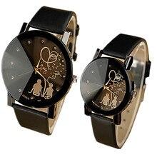 YAZOLE, часы для влюбленных, для женщин и мужчин, модные наручные часы с кристаллами, кожаный ремешок, модные часы, часы, reloj hombre reloj mujer