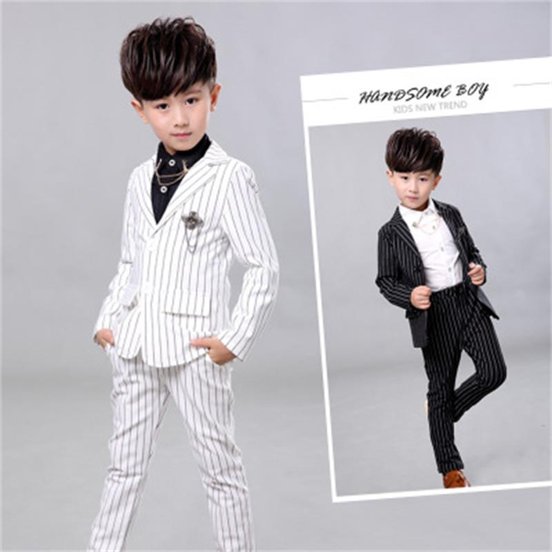 Boys suits for weddings Kids Prom Suits White Wedding Suits Kids tuexdo Big Children Clothing Set Boy Formal Classic Costume