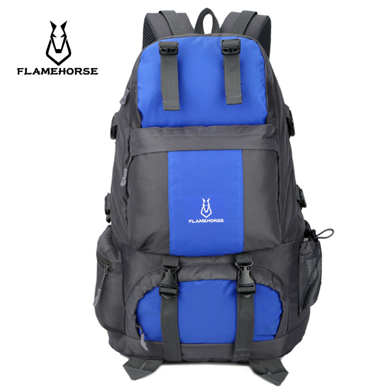 2018 Hot 50L Large Waterproof Climbing Hiking Backpack Rain Cover Bag Camping Mountaineering Backpack Sports Outdoor Bike Bag cycling multi function outdoor sports backpack bike bag 22l motorcycle rucksack backpack bag with waterproof rain cover