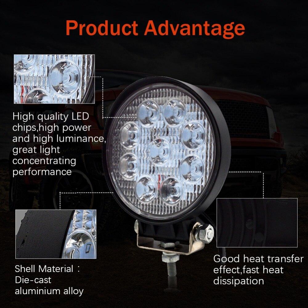 Safego 27W led munkalámpa 12 V LED Traktor munkalámpa terepen 4X4 - Autó világítás - Fénykép 2