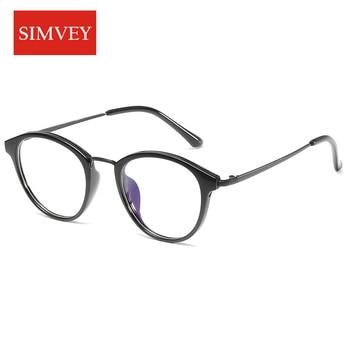 Simvey 2017 Fashion Vintage Computer Glasses Anti Blue Light Blocking Glasses Women Men TR90 Gaming Glasses High Quality blue light blocking glasses