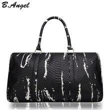 064a6df67 عالية الجودة نمط تمساح الرجال السفر حقائب النساء حقيبة يد حقيبة يد جلدية  السفر الأمتعة واق