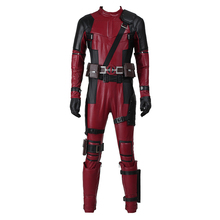 Deadpool Wade Xman Cosplay Costume Outfit Men Jumpsuits Onesies Halloween Clothes Carnival Party Custom Made Adult With Mask