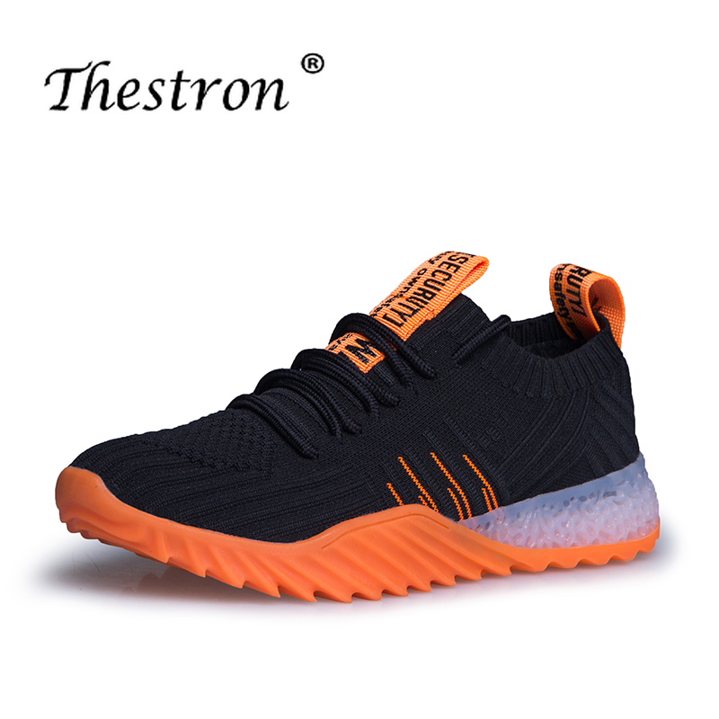 Couples Running Shoes Orange Light Green Fitness Women Shoes Spring Autumn Jogging Male Sneakers Lace Up Sneakers For Unisex in Running Shoes from Sports Entertainment
