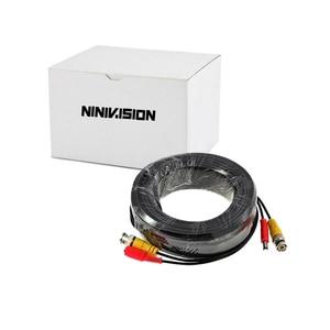 Image 2 - Новинка Аксессуары для камеры видеонаблюдения BNC Сиамский кабель для видеонаблюдения DVR комплект длина 20 м 65 футов