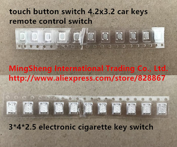 Original new 100% touch button switch 4.2x3.2 car keys remote control switch 3*4*2.5 electronic cigarette key switch image